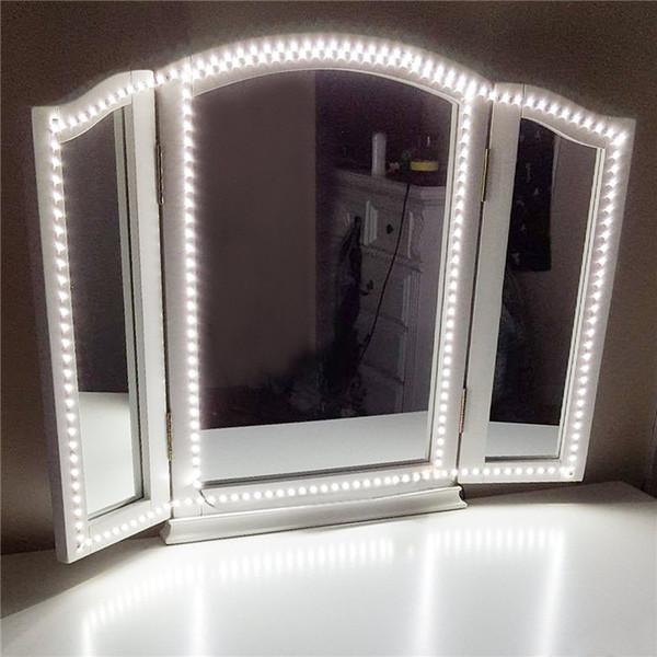 Led Şerit işık Kiti 13ft / 4 M 240 Led Makyaj Vanity Ayna Işıklar Dimmer Dize Makyaj Masa TV banyo için oturma odası dekoratif lambalar Set