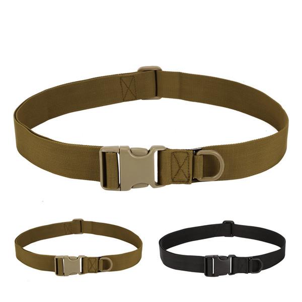 Molle Nylon Belts  Tactical Belts SWAT Duty Army Plastic Automatic Buckle Waist Belt Mens Hanging Buckle Tactical Gear