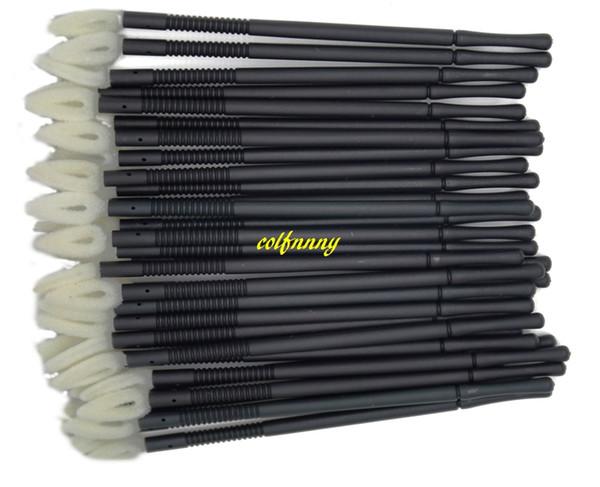 10sets/lot(1sets=100pcs) 9cm Disposable Lip Brush Lip Gloss Wand LipStick Gloss Applicator Makeup Lip Brushes Portable Lipbrush