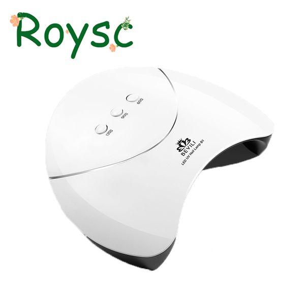 36W LED UV Lâmpada Prego Secador de Cura Todos Os Pregos Géis Polonês Para Manicure 12 leds Luz Do Sol Para UV Gel Máquina de Arte Art