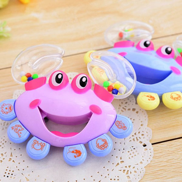 top popular Kids Baby Rattles Toys Crab Design Hand Bell Musical Shaking Educational Toys Newborn Baby Toys Gifts Hand Toy For Children 2021