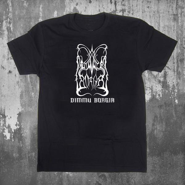 Maglietta nera da uomo T-shirt S-3XL di Tm nera con logo di Dimmu Borgir