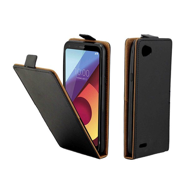Business Leather Case For Coque LG Q6 Q6A Vertical Flip Cover Card Slot Cases For LG Q6 Plus Mobile Phone Bags