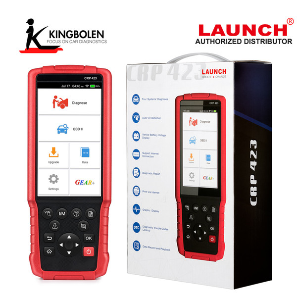 LAUNCH X431 CRP423 OBD2 Code Reader Scanner support Engine/ABS/Airbag/AT OBD 2 CRP 423 Auto diagnostic tool CRP129 creader VIII