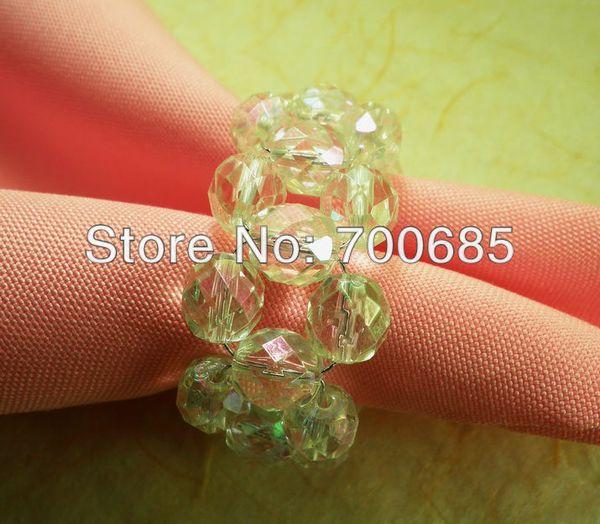 wholesale napkin rings clear crystal ,napkin holder