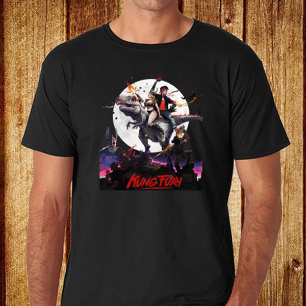 Kung FURY Martial Artser Film Männer Schwarz T-Shirt Größe S bis 3XL Kostenloser Versand 2018 Marke t-shirt Homme Tees