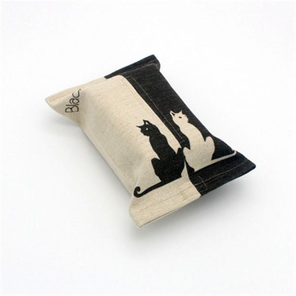 Wholesale- 1Pcs 24x18x9cm Fashion Creative Handmade cloth art Tissue box Thicken cotton line towel bag Cartoon Restaurant car paper box