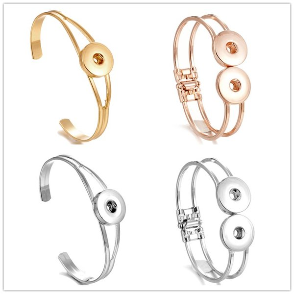 NOOSA Chunks Snaps Jewelry silver gold Metal Snap Button Charm Bracelet Bangle fit 18mm Snap Button Jewelry For women