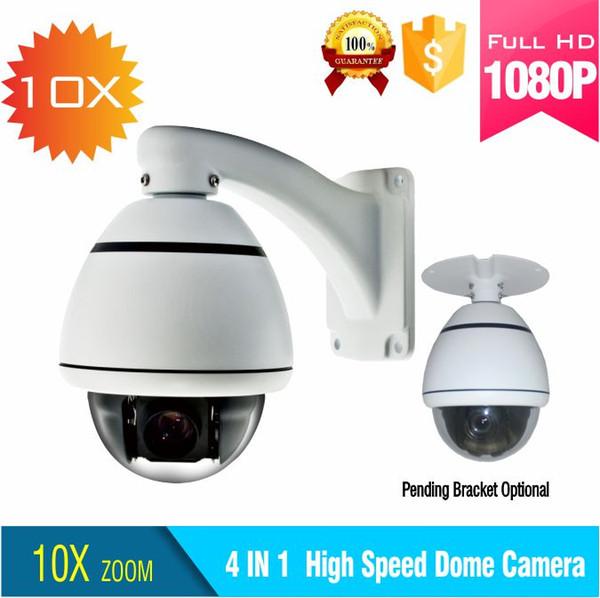 1080P TVI saída dome de alta velocidade da câmera 10X Zoom / Pan / Tilt mini outdoor ptz dome suporte para câmera IP66 com controle de cabo coaxial