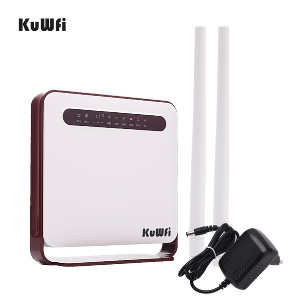 Unlocked 4G LTE Wireless CPE Router 300Mbps Wireless Router with Sim Card Slot&RJ45 Port Home Wifi Routers Up to 32Users
