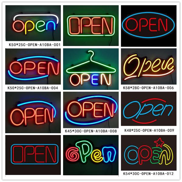 Sıcak satış açık led açık burcu Özel mağazalar AÇIK neon tabelalar iş tabela reklam tabela dc12V esnek mini kelime akrilik logo
