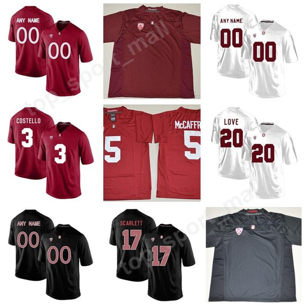 Man Kids College Stanford Cardinal 84 Colby Parkinson Jersey Custom Any Name Number Football 22 Cameron Scarlett 20 Bryce Love Kaden Smith