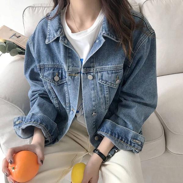 Acquista 40 2018 Primavera Coreana Lavato BF Allentato Casuale Giacca Di Jeans Fibbia A Fila Singola Alla Moda Donne Allentate A $23.12 Dal Yu1999 |
