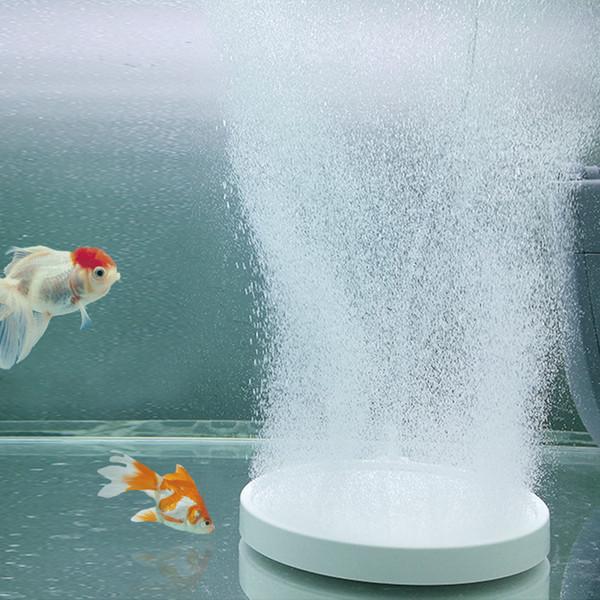 best selling Air Stone Aquarium Round Bubble Plate Premium Nanoscale Fish Tank Oxygen Produce Superfine Atomization Bubble 4.25inch