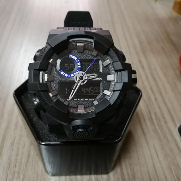 2018 nouvelle arrivée montres pour hommes en plein air Sprort Man Male LED arrière lumière Digital montres-bracelets analogiques double affichage montres horloge reloj hombre