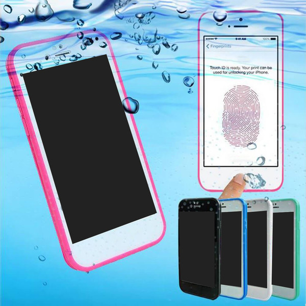 2018For Iphone X 8 Case S7 Waterproof Case TPU Rubber Full Boday Cover For iphone 7 plus 6 6 Plus Shock-proof Dust-proof Underwater Diving C