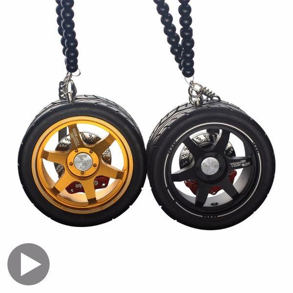 Car Styling Accessory Trinket Tyre Key Rings Al Alloy Key Chain Wheels Model Tires Keychains For Auto Moto Rim Keyring gadgets