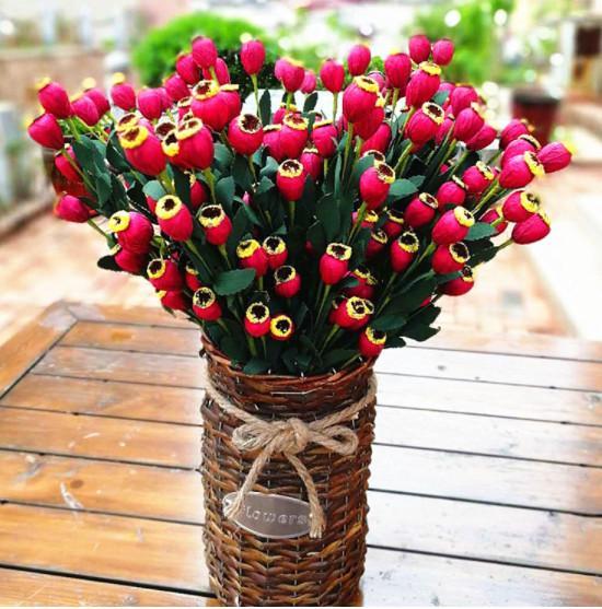 Pastoral style artificial flowers Artificial poppies Handmade foam flower Simulation silk flower plants