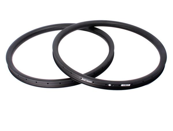 Cerchi super leggeri 27.5er senza montatura 35mm Larghezza 25.5mm Profondità Fibra di carbonio integrale Mountain Bike Ruota Cerchi MTB UD Finitura opaca24 / 28 / 32h