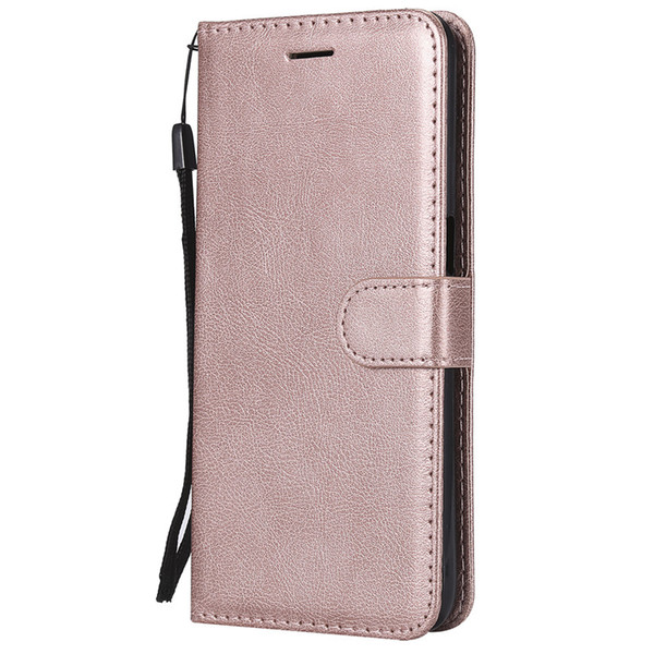 Wallet Case For OPPO F9 Flip back Cover Pure Color PU Leather Mobile Phone Bags Coque Fundas