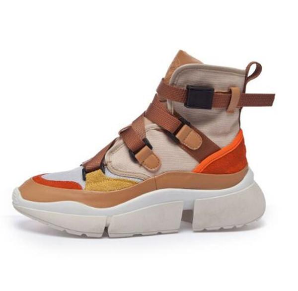 2018 Automne Nouveau Casual Sneakers Femmes Chaussures Toile Augmentant Chaussures Version Coréenne Qild ins Super Fire Vieux Papa Chaussures Femme Bottes 35-39