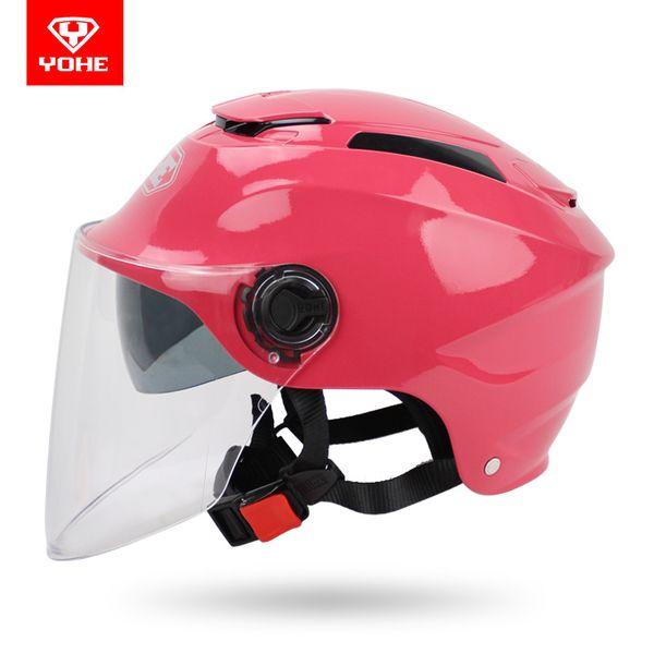 Summer women men YOHE 365 Motorcycle scooter helmet , Dual lens half face YH-365 electric bicycle helmets safety biker helmet