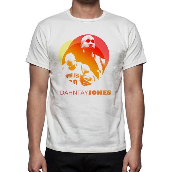 Basketball-T-Shirt Jersey Dahntay Jones M145 Mens 2018 Modemarke T-Shirt Oansatz 100% Baumwolle T-Shirt