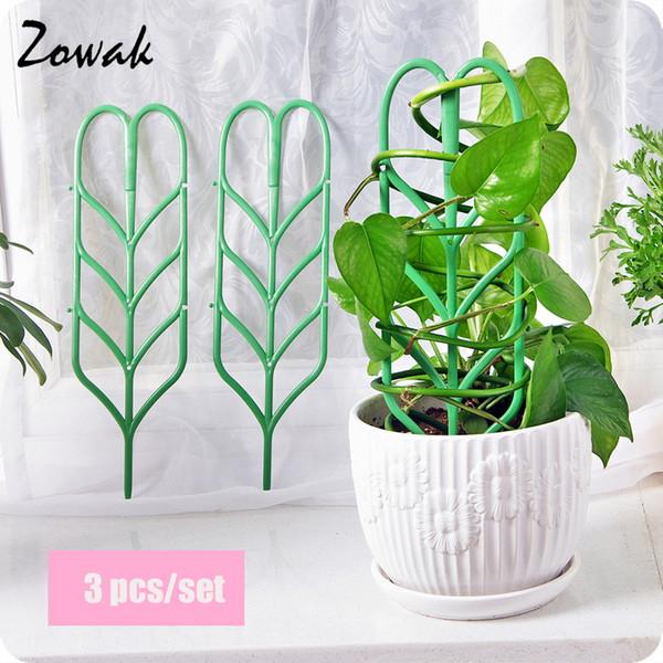 3pcs / set plante treillis escalade jardin bricolage fleur vignes décoratives plantes support pot stand plantes vert fruits légume treillis