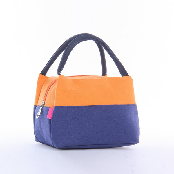Patchwork Lunch Bags Canvas Pouch Storage Box Portable Insulated Thermal Cooler Bag Children Picnic Tote Bolsa Termica Lancheira