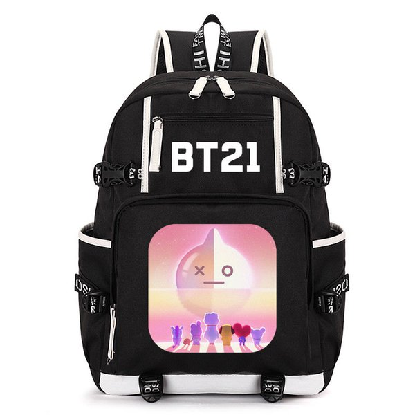 kpop bags Coupons - KPOP BTS Bangtan Boys BT21 RJ Van Cooky Shooky Backpack Shoulder  Bag b3da09dd38c1e