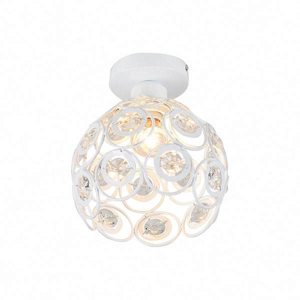 CSS E27 white Creative crystal minimalist ceiling light Simple ceiling lamp bedroom alley Simple european iron lamp Crystal la