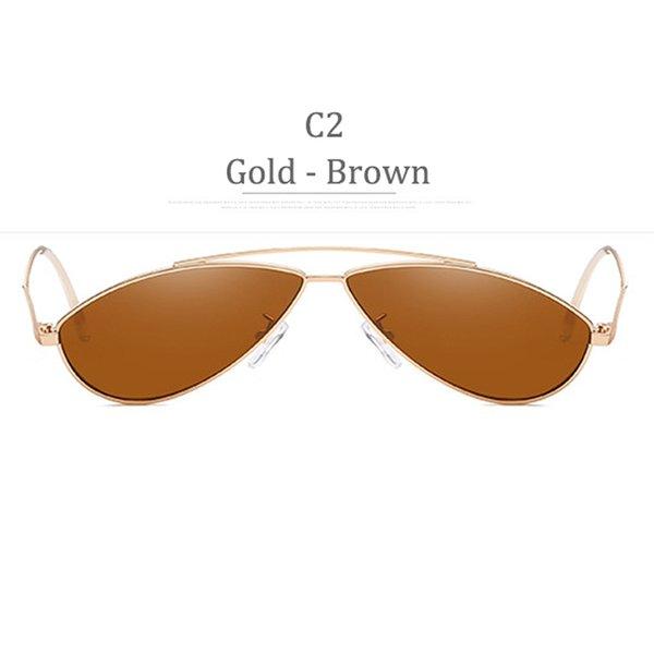 C2 Obiettivo marrone in oro