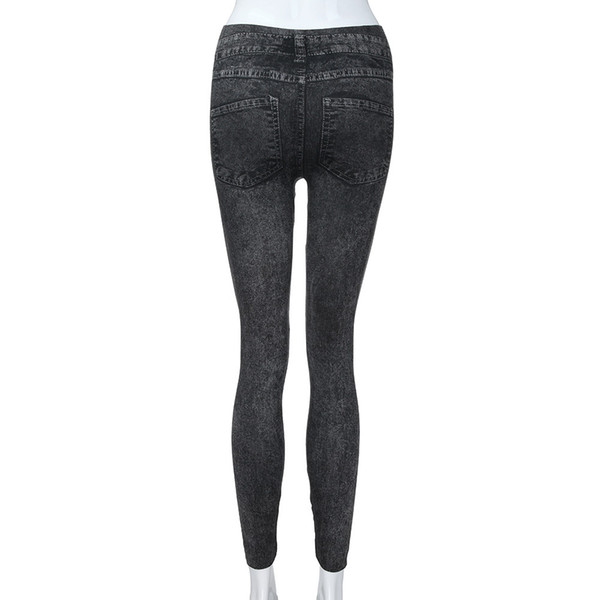 Women's Denim Pants Pocket slim Fit Leggings Fitness Plus Size Leggins Length Jeans for women befree high waist Ladies CasualF80
