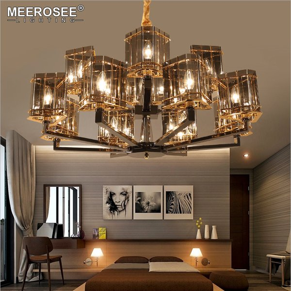 Modern Crystal Chandelier Lighting Glass Hanging Suspension Lamp for Dining room Hotel Project Lustres Abajur Crystal Drop Lamp