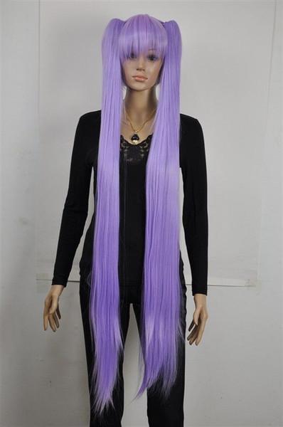 Light Purple Extra Long Straight Cosplay Lolita Lori Split Wig Ponytail