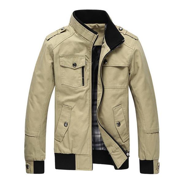 DIMUSI Herbst Winter Herren Baumwolljacken Stehkragen Military Herren Jacken Fashion Casual Oberbekleidung für Herren Plus Size 3XL