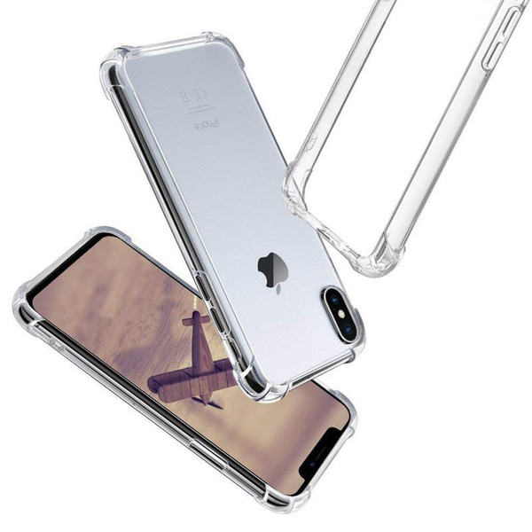 Protection Shockproof Case for iPhone XS XS Max iPhone X 8 7 6S Plus Soft TPU Case Clear Cover for Samsung S9 Plus