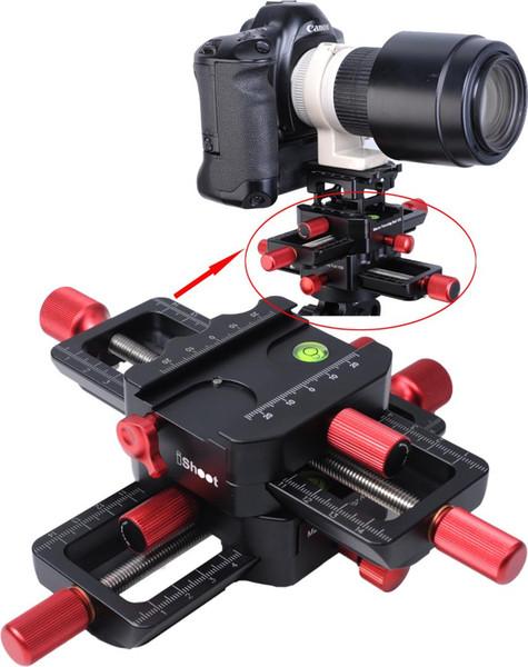 Cabezal deslizante de riel de enfoque macro de 150 mm de 4 vías con abrazadera de ajuste Arca-Swiss Placa de liberación rápida para trípode Ballhead Cámara Canon Sony