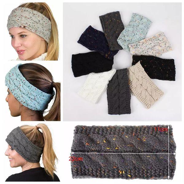 top popular Knitted Crochet Headband Women Winter Sports Headwrap Hairband Turban Head Band Ear Warmer Beanie Cap Headbands LJJA3276-4 2020
