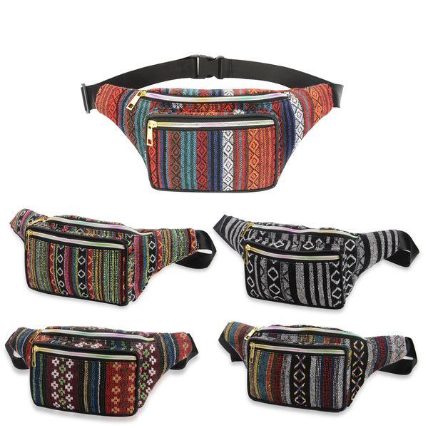 NOVA Estilo Bohemian Moda Feminina Impressão Fanny Pack Bolsas de Esportes Ao Ar Livre Cintura Sacos Crossbody Sacos de Ombro 5 Cor
