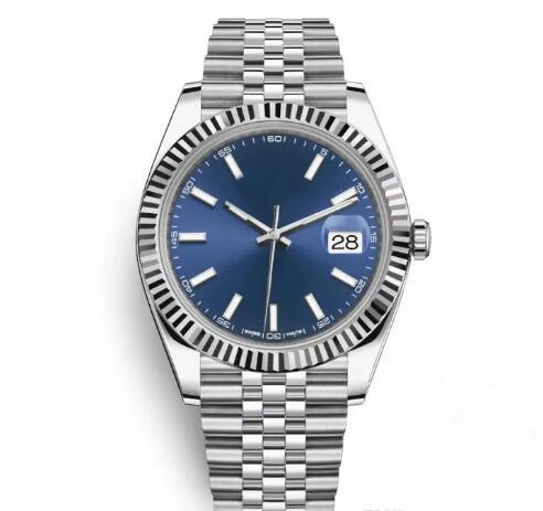 Top AAA 41mm Datejust Steel Blue Dial Watches Men Mechanical Automatic Watch Luxury Brand Reloj Business Fashion President Desinger Watches