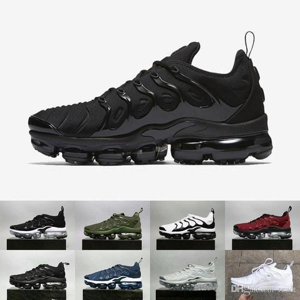 SıCAK SATıŞ 2018 Yeni 2018 TN Artı VM Metalik Zeytin Erkekler Mens Koşu Tasarımcı Lüks Ayakkabı Sneakers Marka Eğitmenler 40-45 Nike Air Max AIRMAX Vapormax