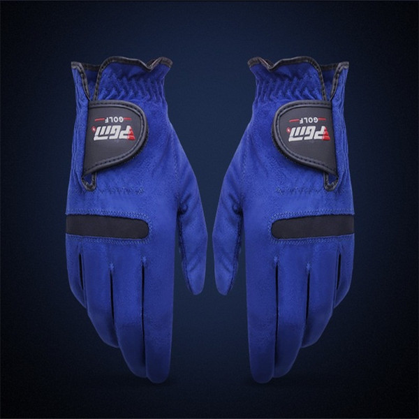 best selling Blue Golf Gloves Superfiber Male Outdoor Sport Glove Tensile Fabric Elastic Force Not Tight Ventilation Fast Drying Magic Sticker 13xs cckk