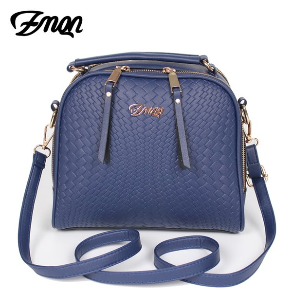 ZMQN Women Messenger Bags Leather Luxury Handbags Women Cheap Blue Side Cheap Crossbody Bag For Famous Brand Small 2 Zipper A502