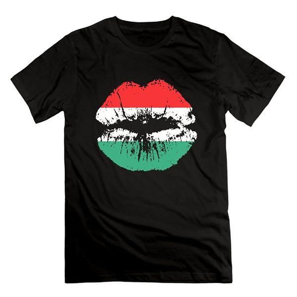 LKFI KDJI Funny Men's T Shirt - Pan American African Heritage Flag Colors Lips