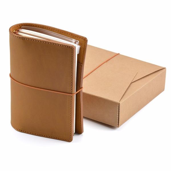 Couverture en cuir véritable Passport Notebook Journal journal fait à la main Traveller notebook Planificateur de carnet de croquis Classique style vintage