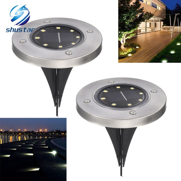 Lumières imperméables de pont de voie de jardin actionnées solaires de lumière solaire avec la lampe solaire de 8 LED pour la route à la maison d'allée de cour de jardin