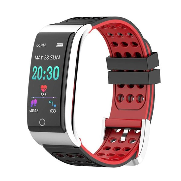 be13c1e7272 E08 À Prova D  Água Relógio Inteligente Monitor de Freqüência Cardíaca ECG  + PPG Pressão