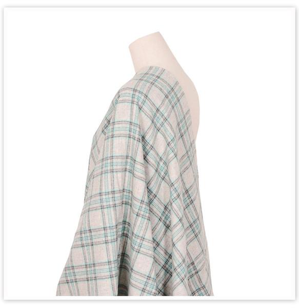 Classico stile vintage plaid verde 100% lana per l'inverno autunno cappotto abito lana fabrc telas tecidos stoffen tissu