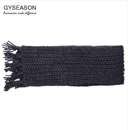 1e04319ace301 Winter Scarf For Men/Women Acrylic Knitted Long Tassel Grey Thick Warm Soft Unisex  Scarf